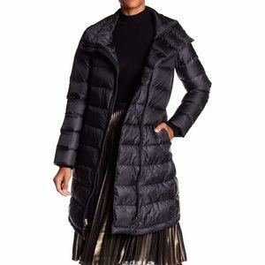 Cole Haan Quilted Asymmetrical Zip Down Coat